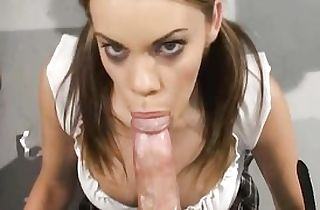 Her first-ever hump instructor penetrates her rock hard