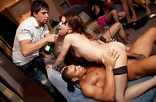 Ultra-kinky gang ravaging at super-steamy hook-up party